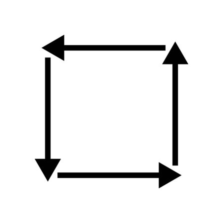 Black vector reqtangle arrow icon
