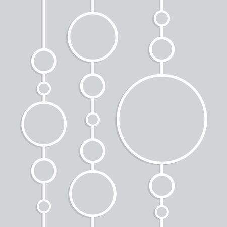 White vector pattern on gray background