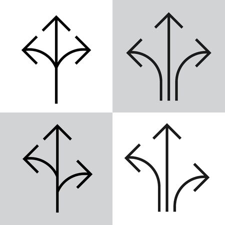 Set of black vector arrows Standard-Bild - 130330532