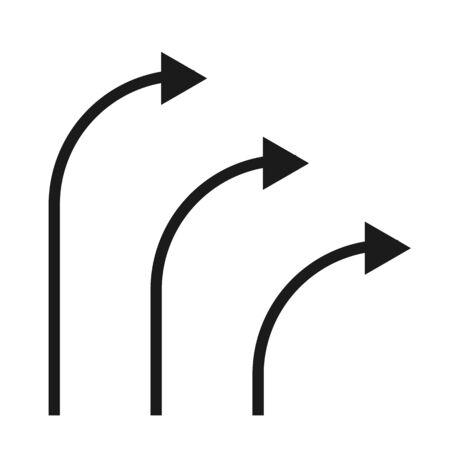 Black vector arrow icon