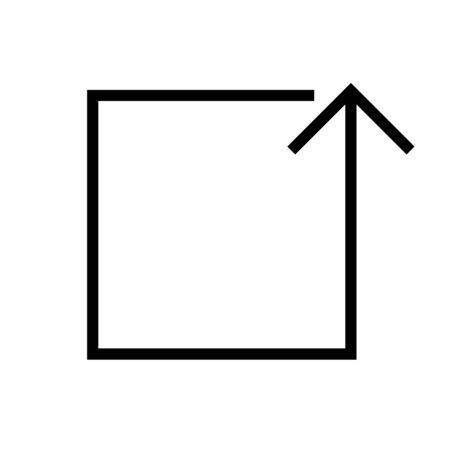 Black rectangle vector arrow icon