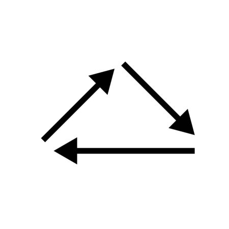 Black vector triangle arrow icon Standard-Bild - 130330545