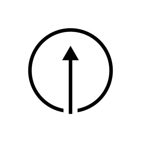 Black vector circle arrow icon Standard-Bild - 130330553