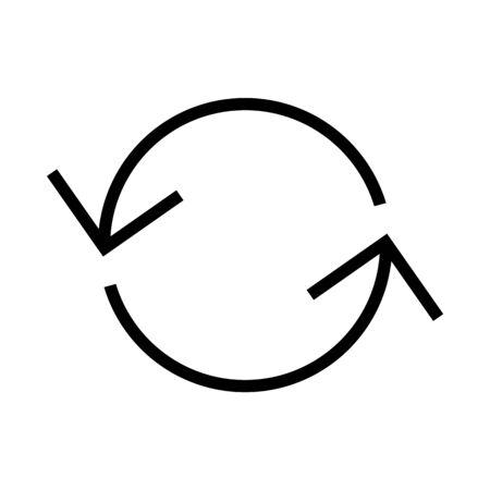 Black vector circle arrow icon