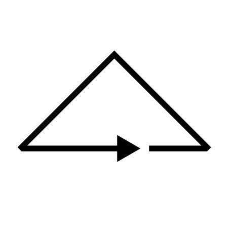 Black vector triangle arrow icon