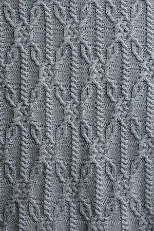 Cool gray color knitted textured textile background