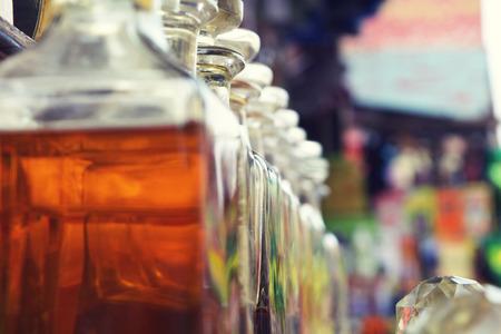 long shots: colorful bottles