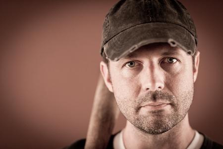 Portrait of a Baseball Player Stock fotó