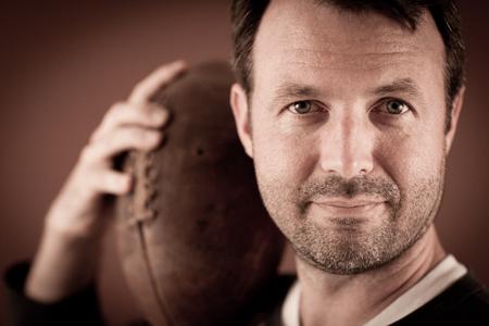 Portrait of a Football Athlete Stock fotó