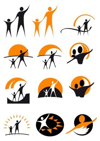 good health: logotype living Illustration