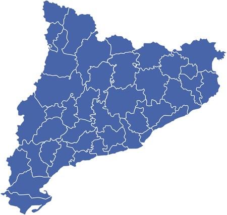Mappa di Catalogna Vettoriali