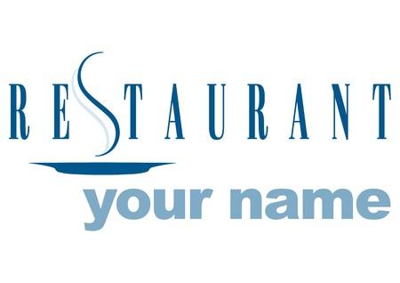 logotype restaurant Vector
