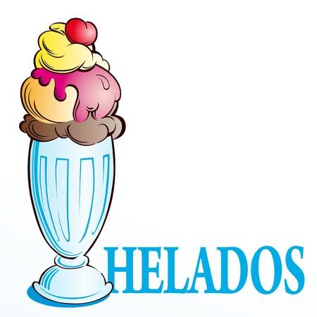 ice cream spanish Stock Vector - 7603351