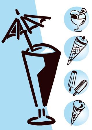 slush: letter ice blue Illustration