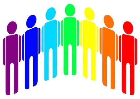 homosexual colour Vector