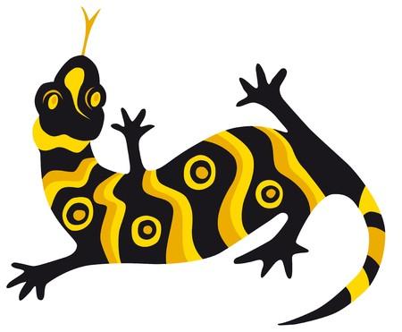 aborigen: lagarto  Vectores