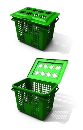 Green Recycling Cart photo