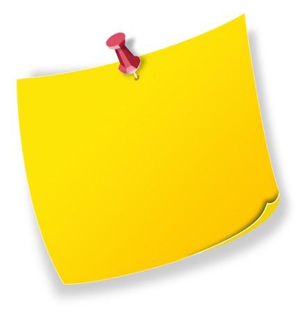 avviso importante: Formulare, nota giallo