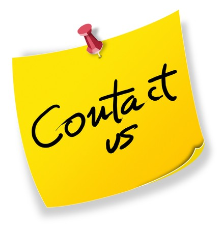 Posit, note contact us Stock Photo - 7694312