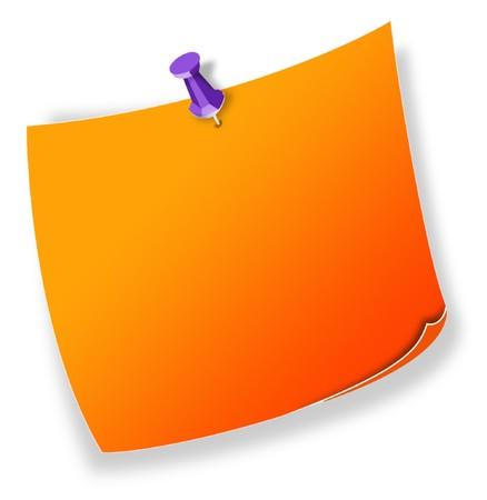 Posit, note orange Stock Photo - 7694306