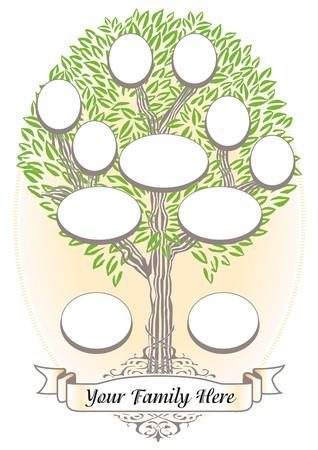 genealogical: �rbol de familia Vectores
