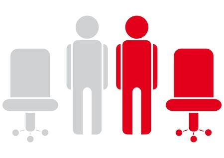 sedia ufficio: lavoratori  Vettoriali