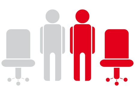 red chair: workers Illustration