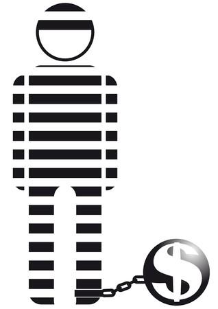 hombre: prisoner of the money Illustration