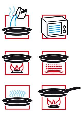hob: cooking instructions Illustration