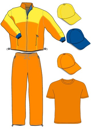 schwitzen: orange tracksuit Illustration
