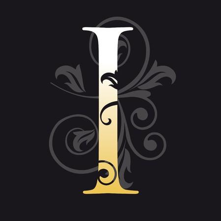 initial: lettera I, tipografia  Vettoriali