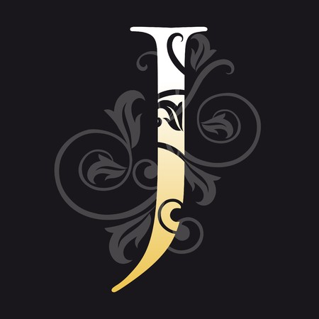 initial: lettera j, tipografia