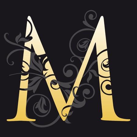 initial: lettera m, tipografia