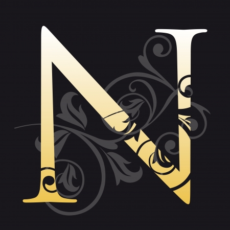 abc book: letter n, typography