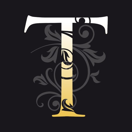 letter t, typography Vector