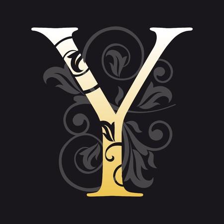 initial: lettera y, tipografia