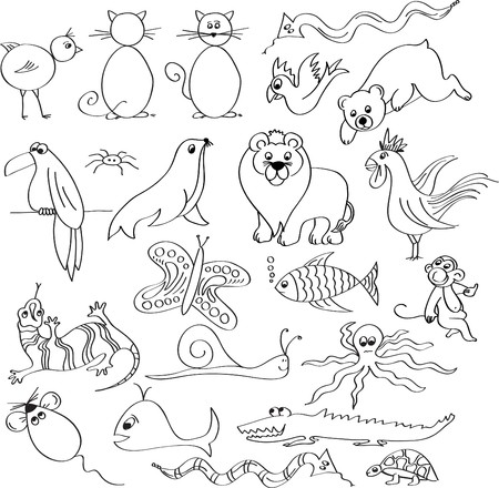 animal drawn Vector