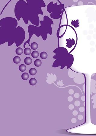 violet wine list Vector