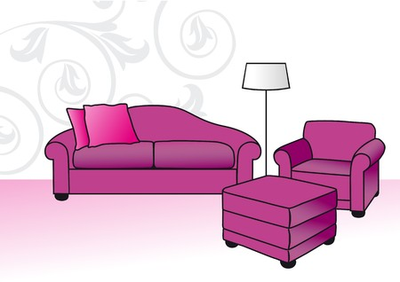 ombre: pink sofa
