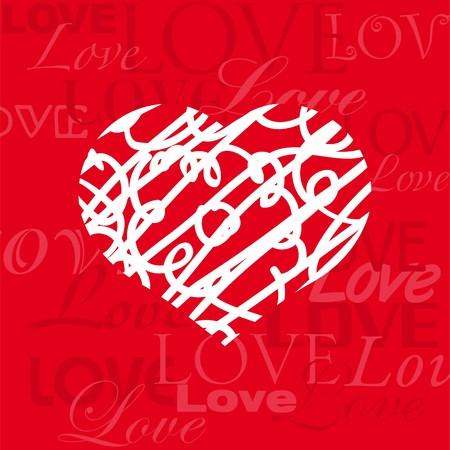 Card love heart Ilustração