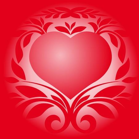 Card love heart Vector