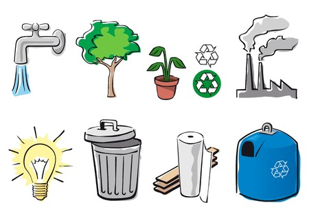 desechos organicos: medio ambiente  Vectores