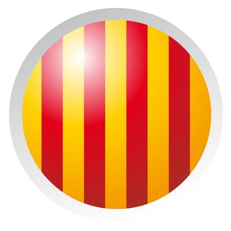 botón de Cataluña  Ilustración de vector