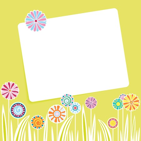 postcard flowers Vector