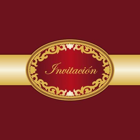 invitation card Spanish Vector