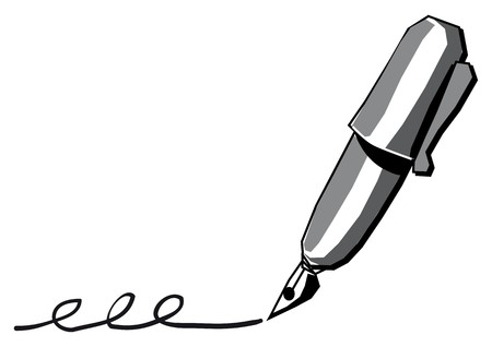 Black pen Stock Vector - 7739529