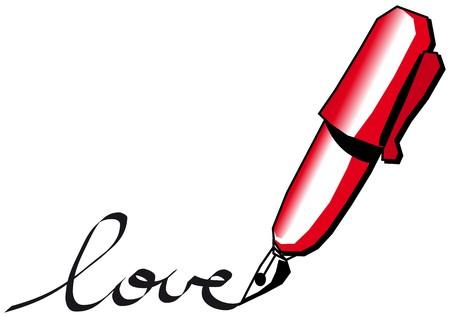 Red pen Stock Vector - 7739536