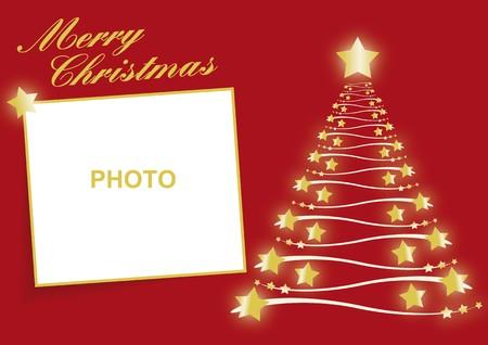 christmas photo frame: Christmas tree