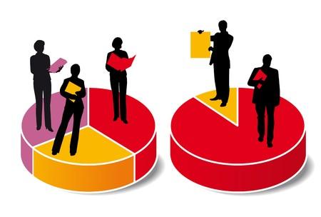 graphic statistics woman Stock Vector - 7739544