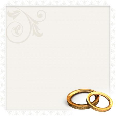 bodas de plata: Invitaci�n de boda Foto de archivo